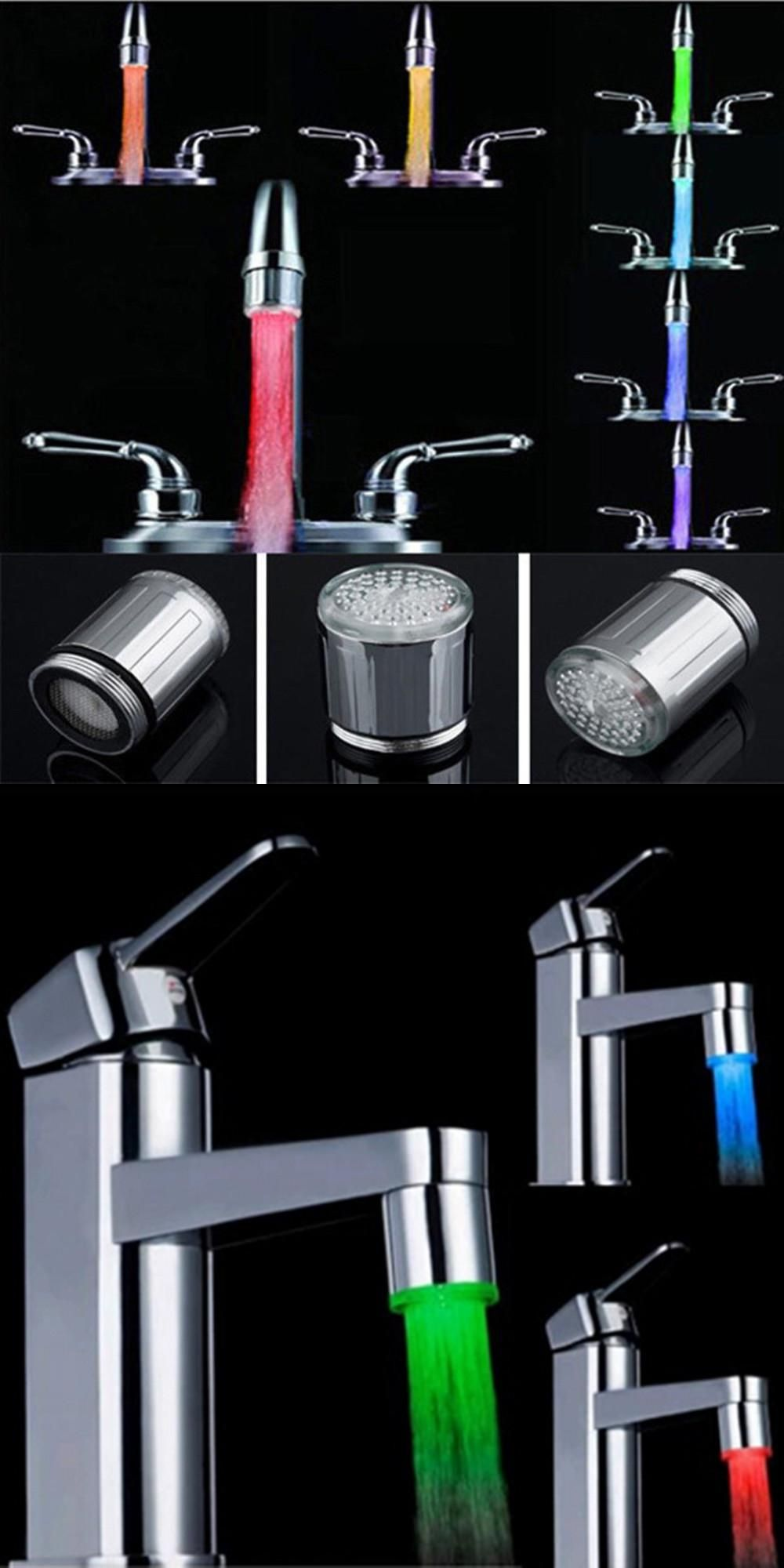 Free Shipping 7 Colors Changing Mini Kitchen Bathroom Accessories ...