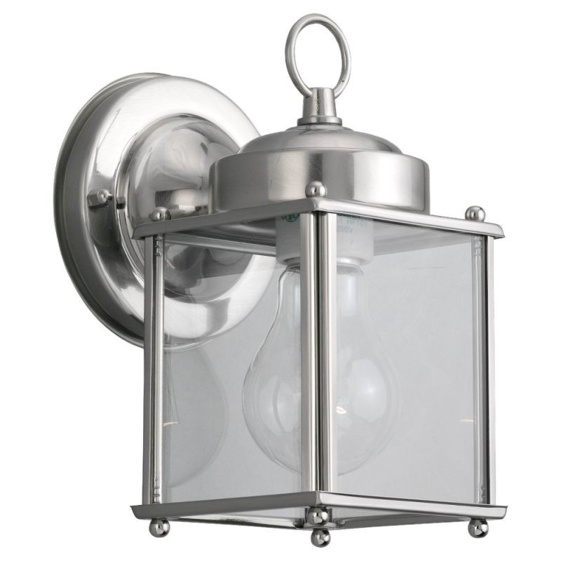 Sea gull lighting 8592 new castle 1 light outdoor lantern wall sea gull lighting 8592 new castle 1 light outdoor lantern wall sconce antique brushed nickel outdoor aloadofball Images