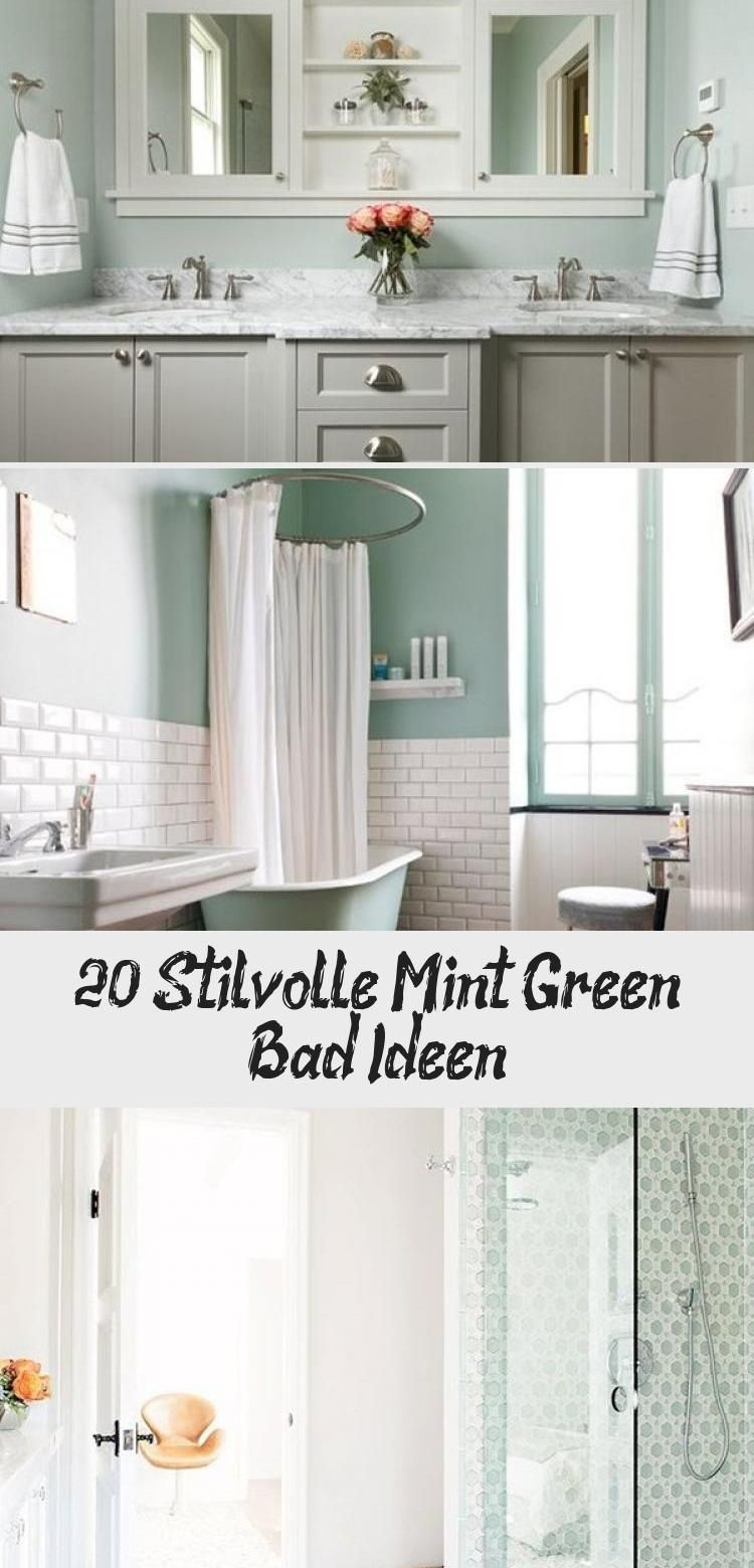 20 Stilvolle Mint Green Bad Ideen In 2020 Home Decor Framed Bathroom Mirror Decor