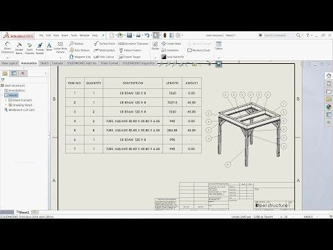 Solidworks tutorial weldments part 2 | Solidworks