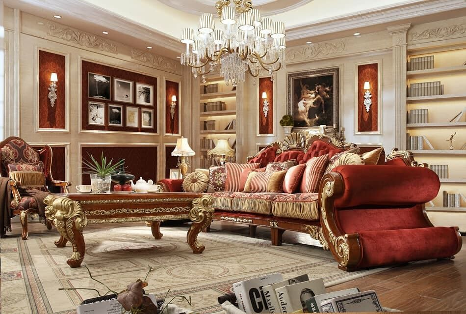 Red And Gray Are Unique Colors That Look Eclectic Irrespective Of The Size And Shape Of Your Room Here Are 29 Examples T Living Room Sets Sofa Design Sofa Set