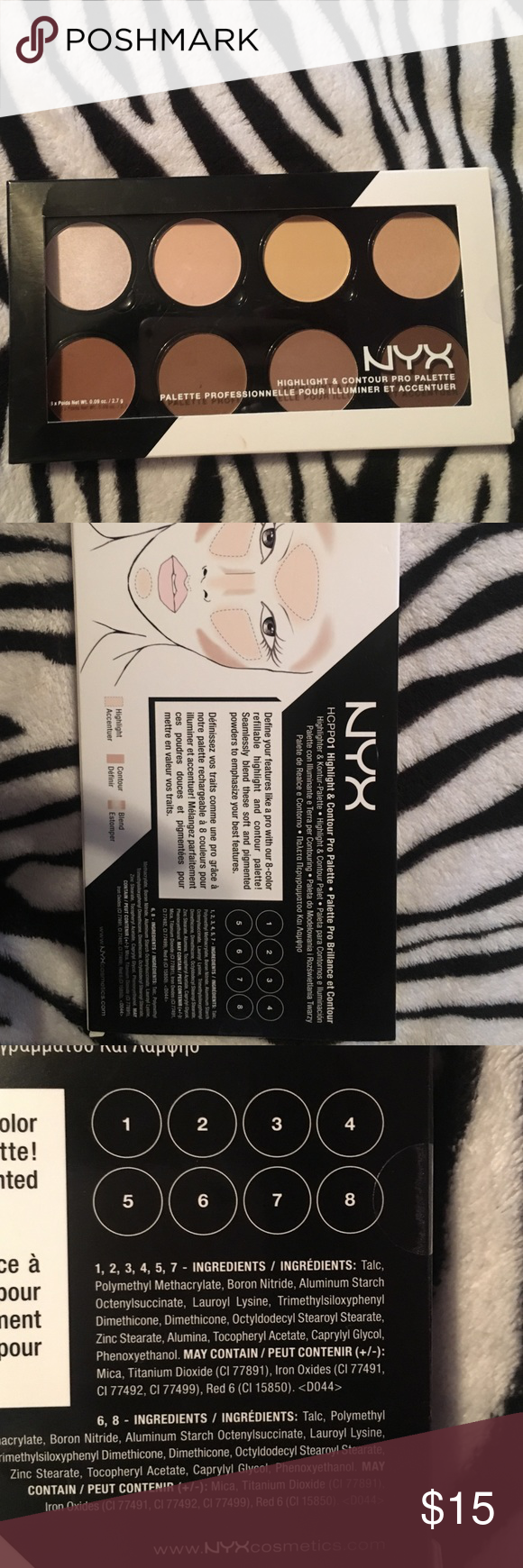 NYX Highlight & Contour Palette Great highlight and