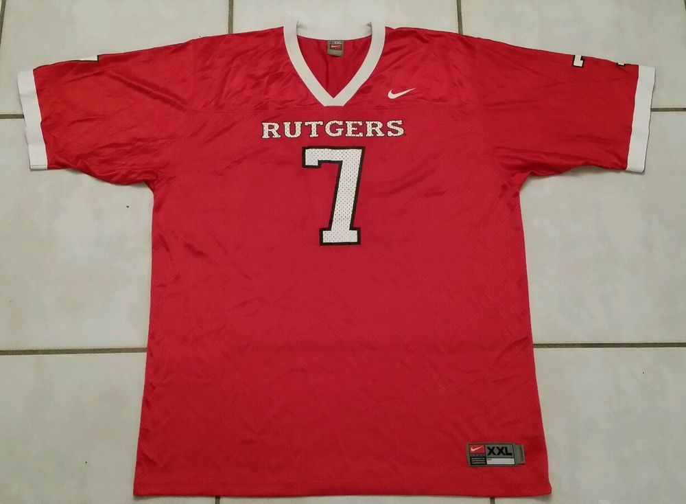 Authentic Nike Rutgers University 7 Ncaa Football Jersey Men S 2xl Ncaa Football Football Ncaa