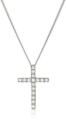 18 LavaFashion Sterling Silver Antiqued Celtic Cross Charm Necklace
