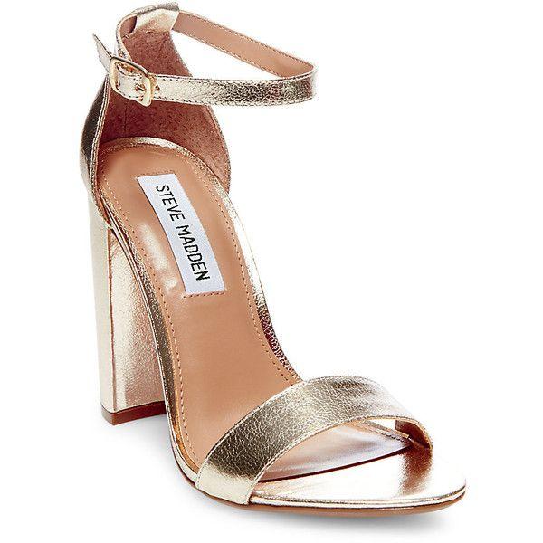 5e9d5aac55e Steve Madden Women s Carrson Sandals (125 AUD) ❤ liked on Polyvore  featuring…  goldanklestrapsheels