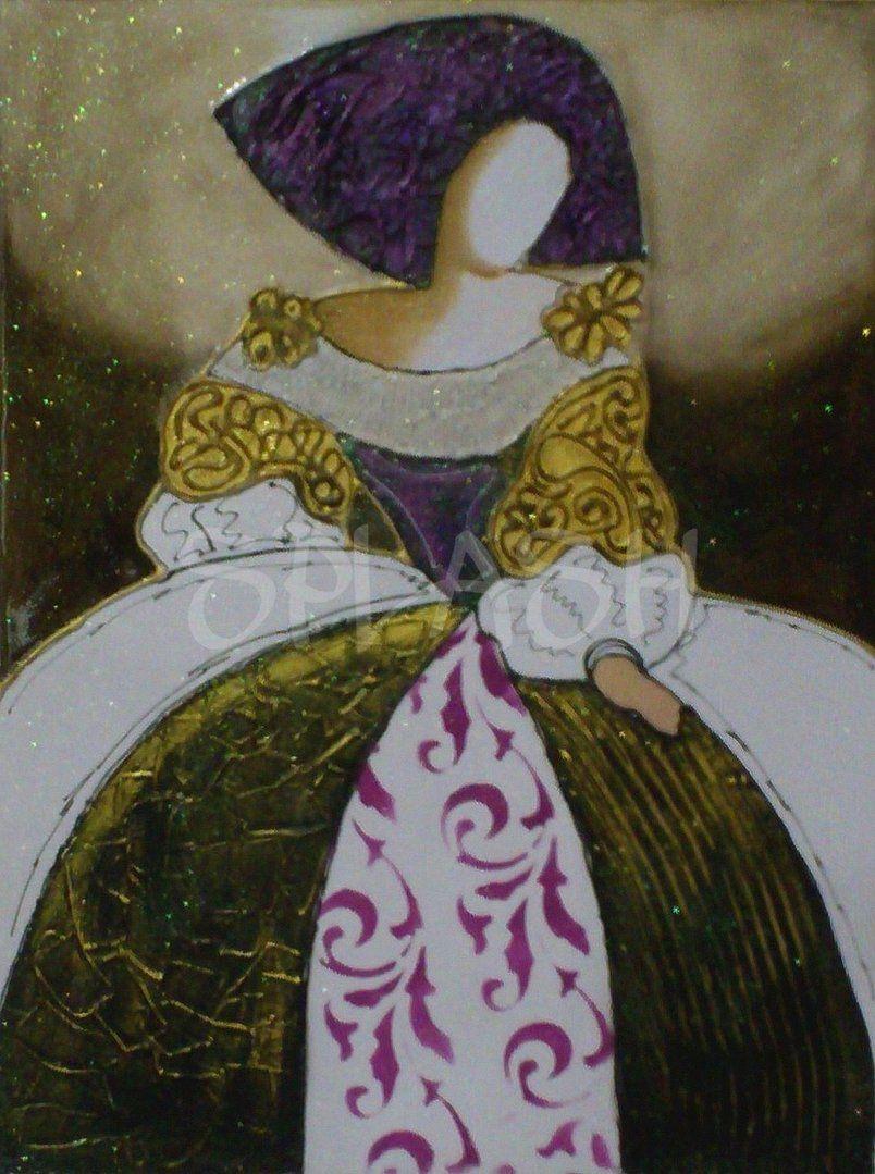 Menina dorada con textura sp789 cuadros meninas cuadros - Cuadros de meninas modernos ...