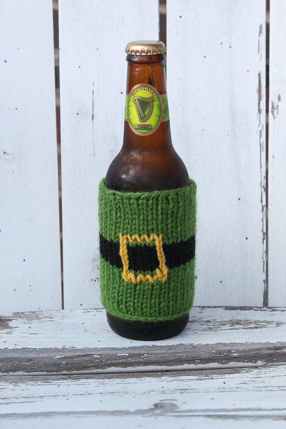 Leprechaun Beer Sleeve by AuntSarahsKnits on Etsy, $7.00
