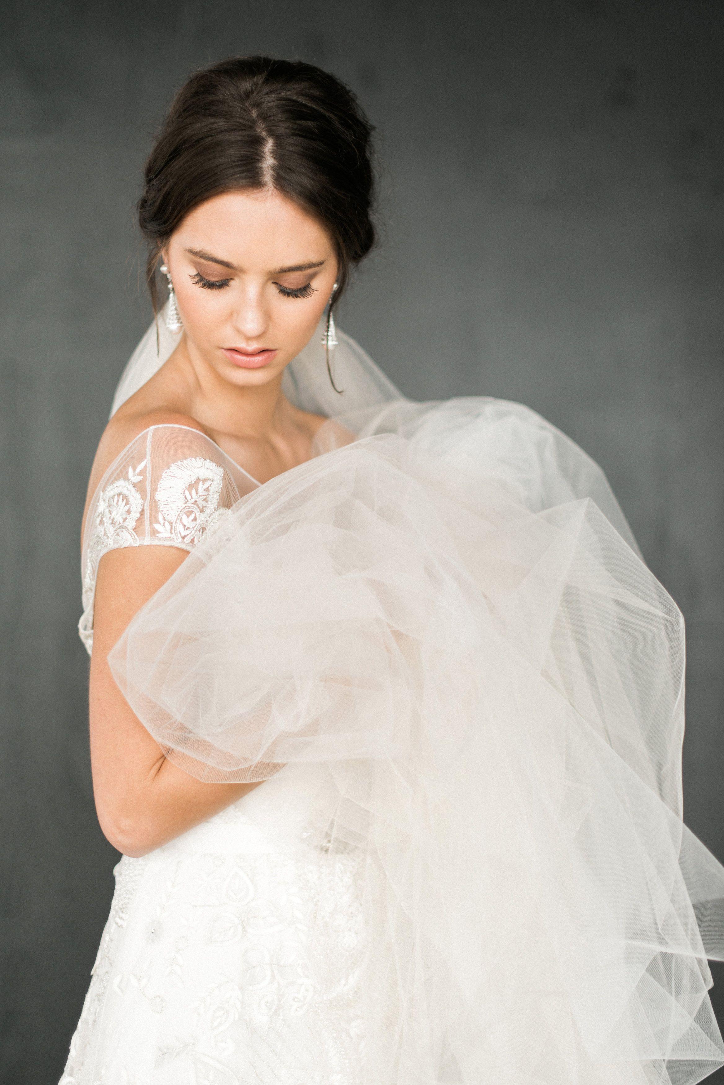 A rhinestone wedding dress to inspire a midnight kiss rustic white