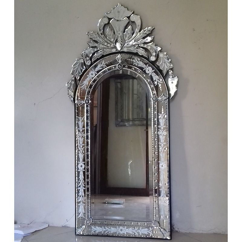 Venetian Style Mirror Tiara Mg 080009, Long Narrow Venetian Mirror