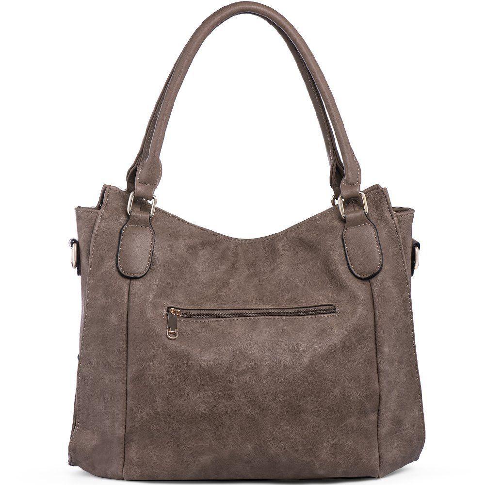 66c4ee19799 Handbags for Women Shoulder Tote Zipper Purse PU Leather Top-handle ...