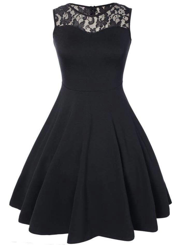 Cute Black Dress For Prom Or Dinner Etc Dresses Homecoming Dresses Pleated Dress