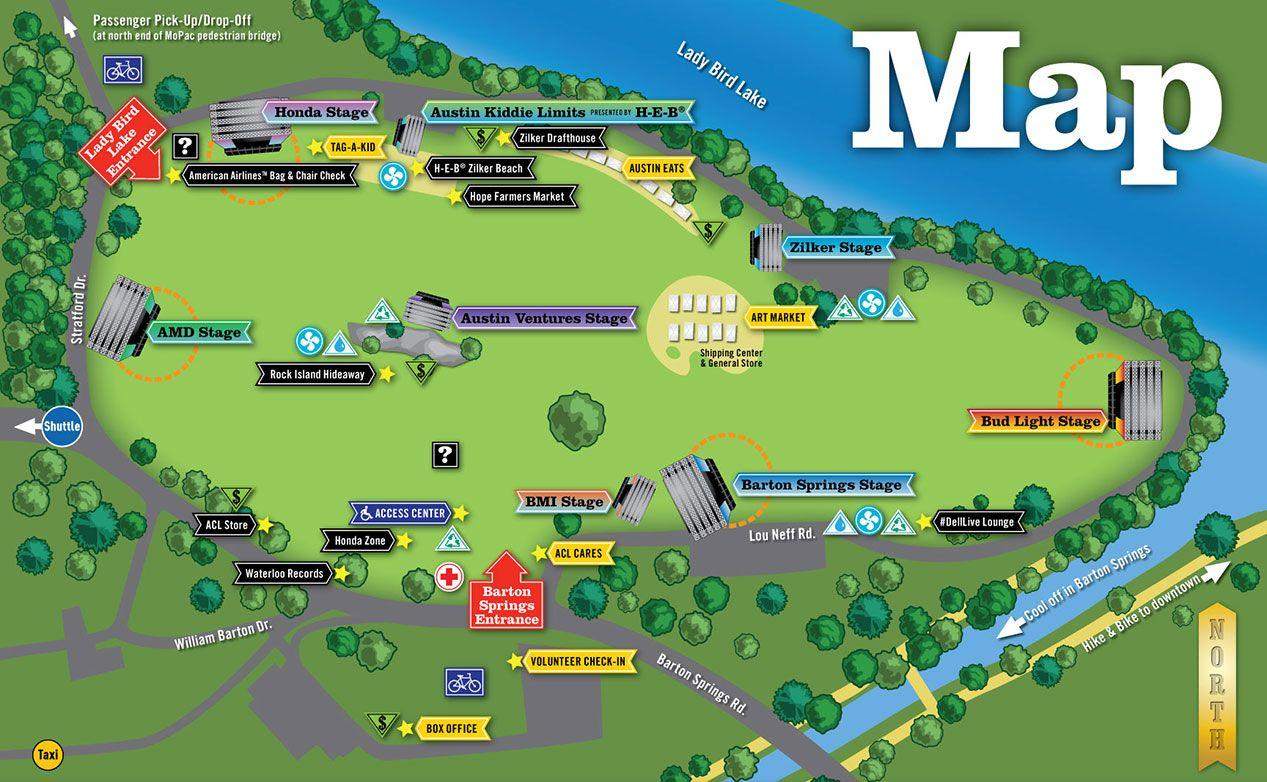 Zilker Park Map on