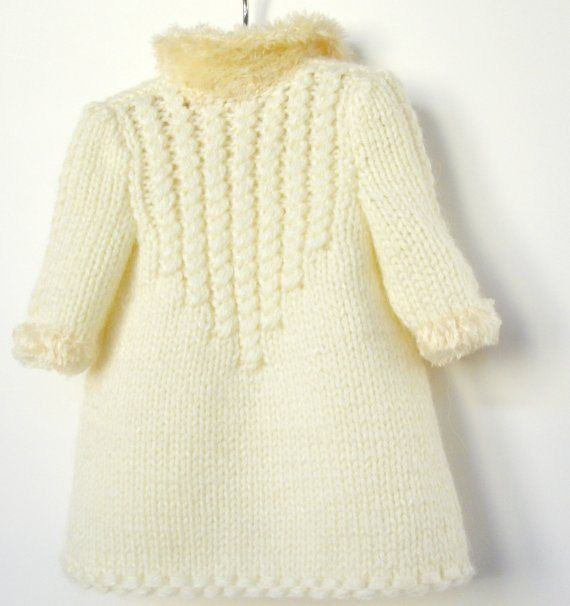 Winter Wonderland - white coat and hat - PDF knitting pattern for ...