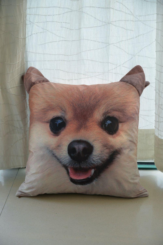 Handmade Pomeranian Print cushion cover