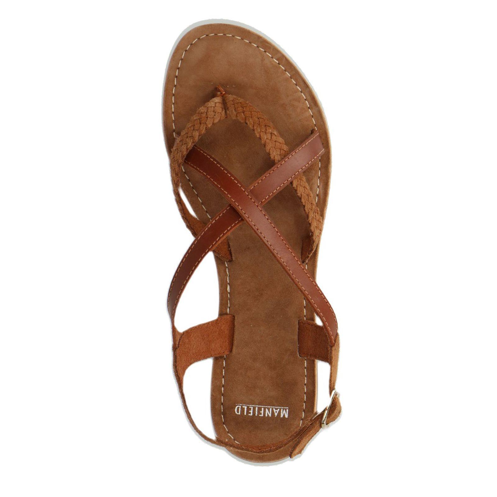 147b3960714 Bruine leren sandalen - Dames | MANFIELD | shoes - Shoes, Fashion en ...