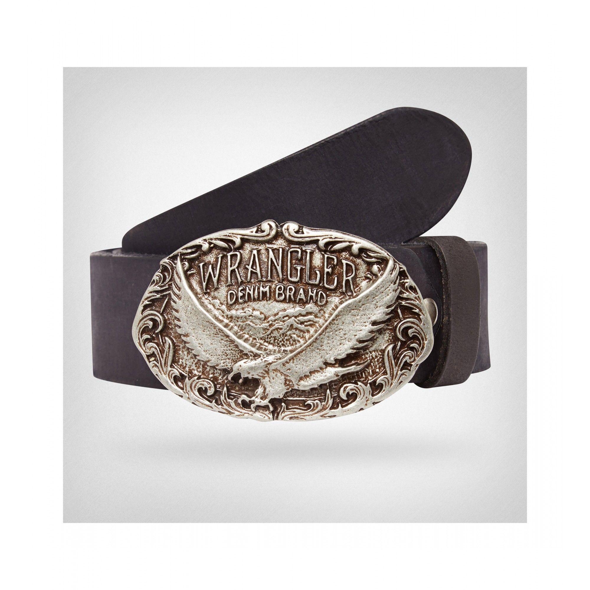 scegli l'ultima Sito ufficiale qualità perfetta Cintura in pelle Wrangler eagle black | Cinture country ...