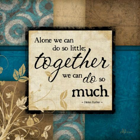 Resultado de imagen de together we can make so much poster