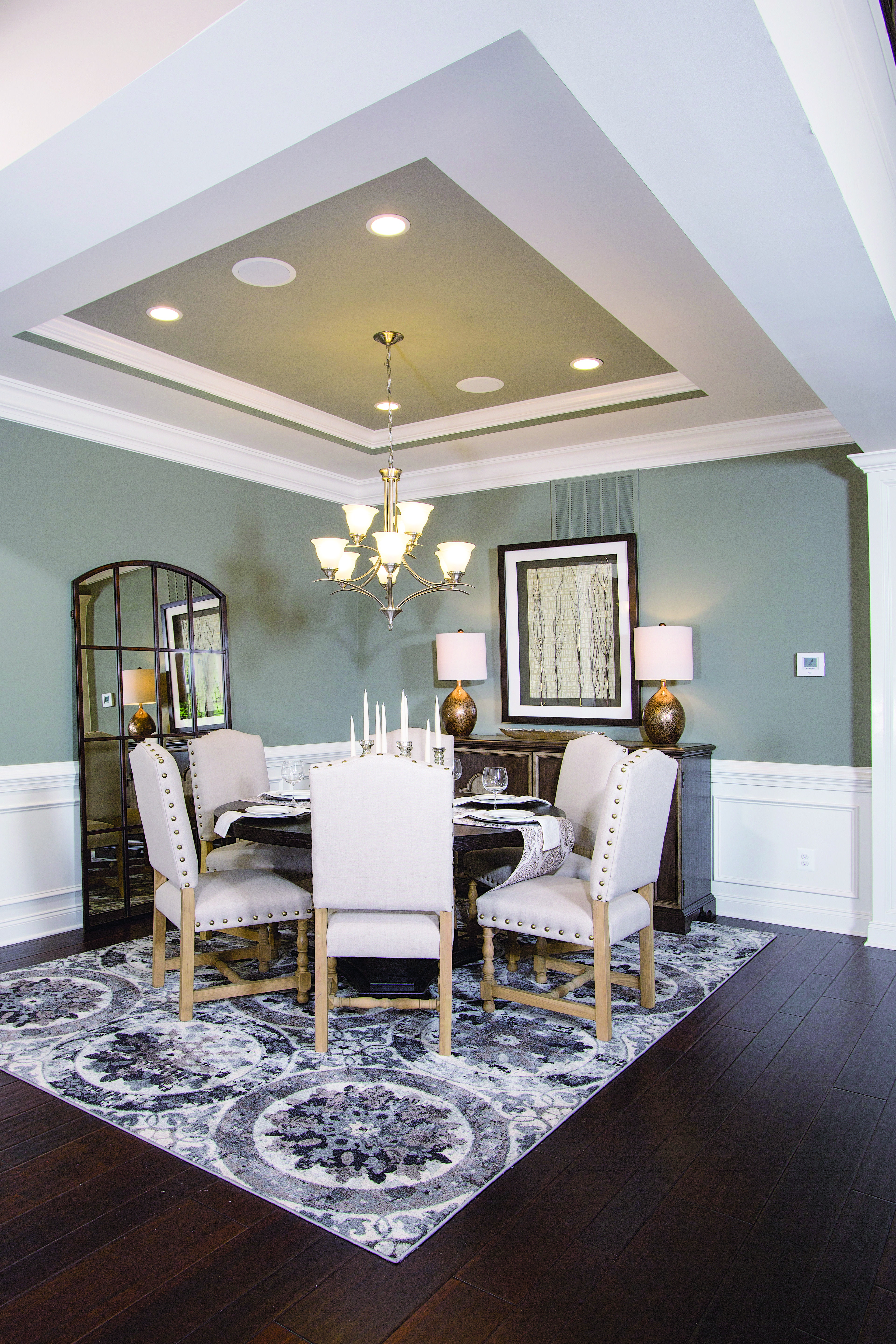 An open dining room means plenty of room to host family and friends ...