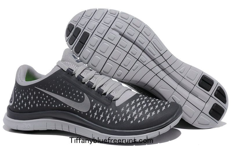 Cheapest Men's Nike Free Run + 3 Running Shoes Wolf Grey