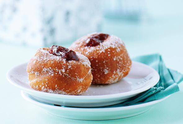 Hanukkah Jelly Doughnuts | Sufganiyot | Recipe | Hanukkah ...