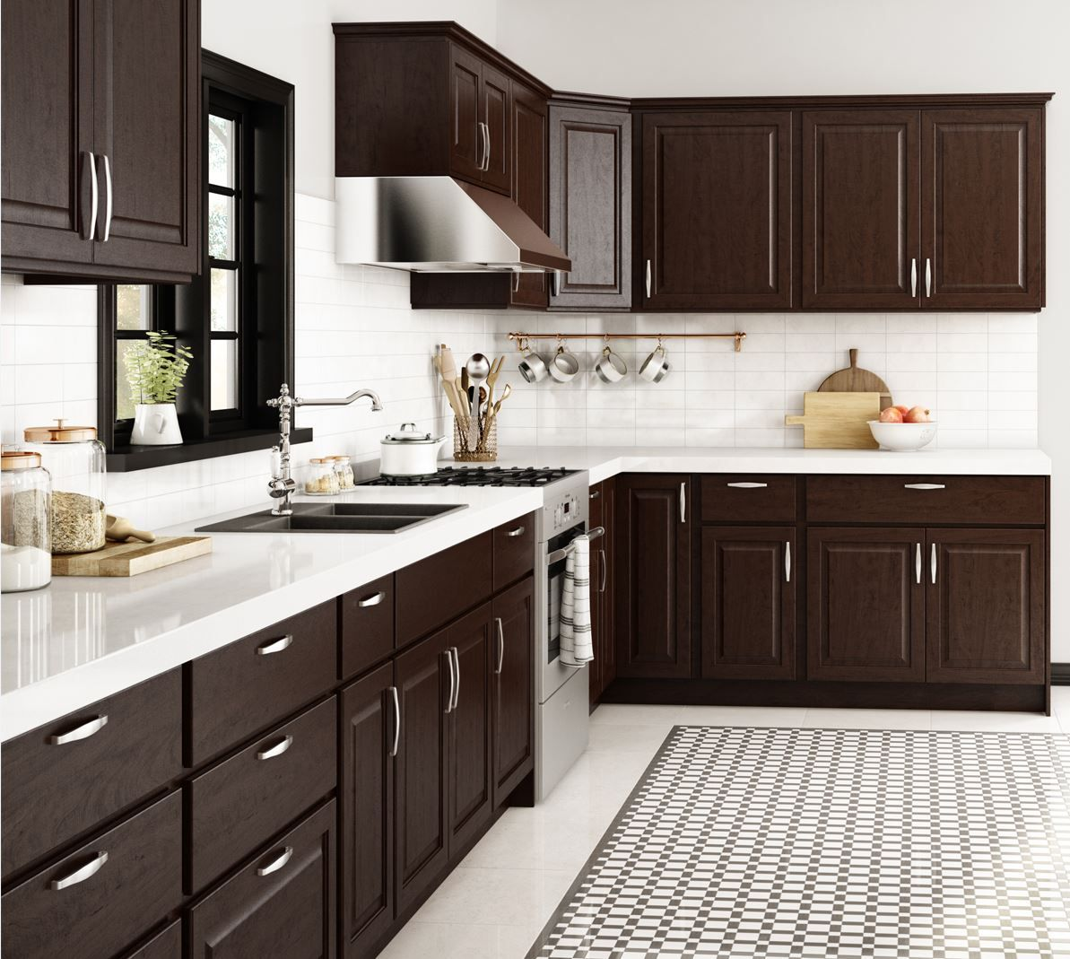 Shop Our Kitchen Cabinets Department To Customize Your Madison Base Cabinets In Java Today At T Kitchen Room Design Kitchen Design Color Kitchen Cabinet Design