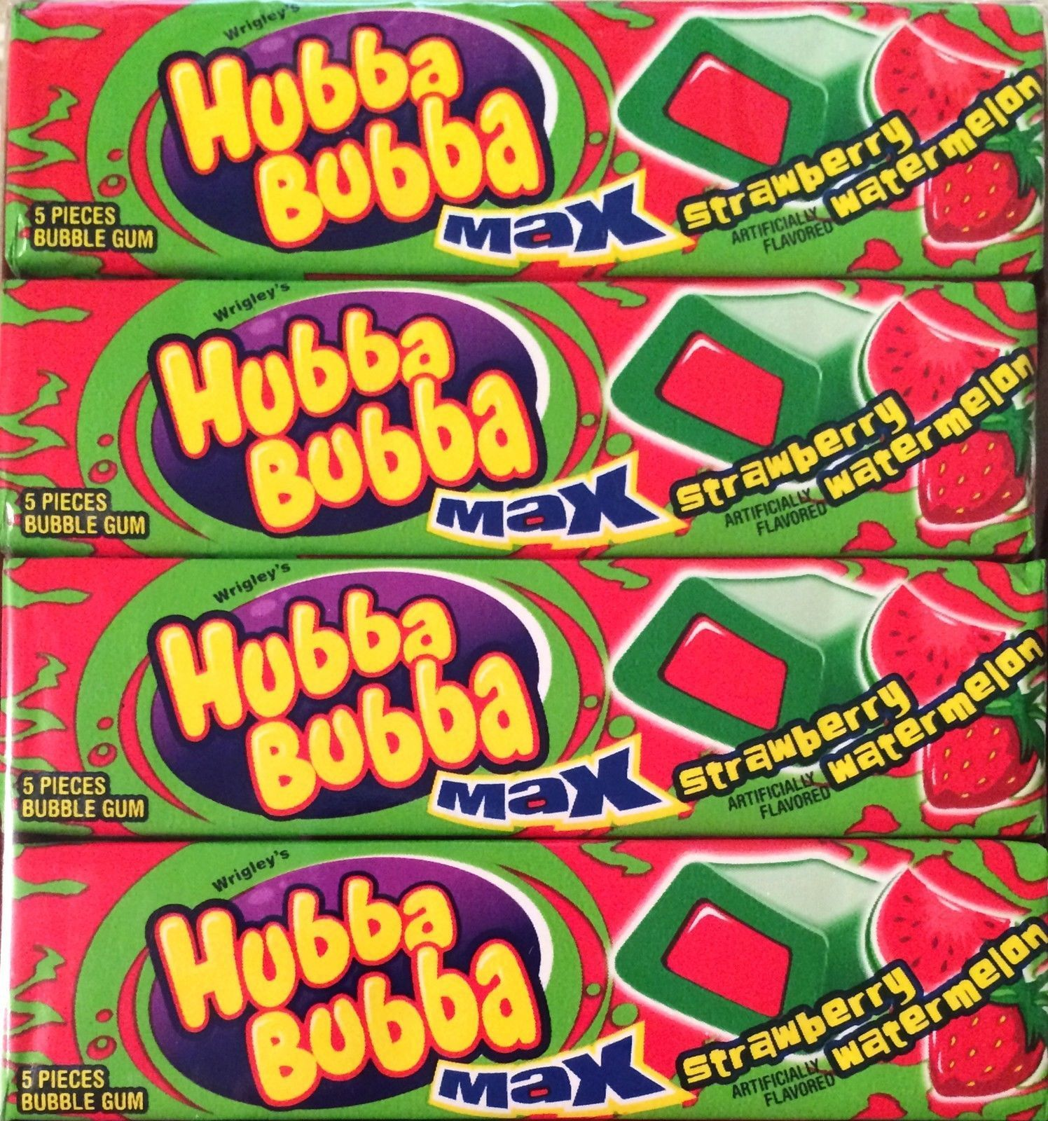 Other Candy, Gum & Chocolate 1 3 6 9 12 Wrigleys Hubba Bubba Bubble Gum Snappy Strawberry Flavour Mega Long