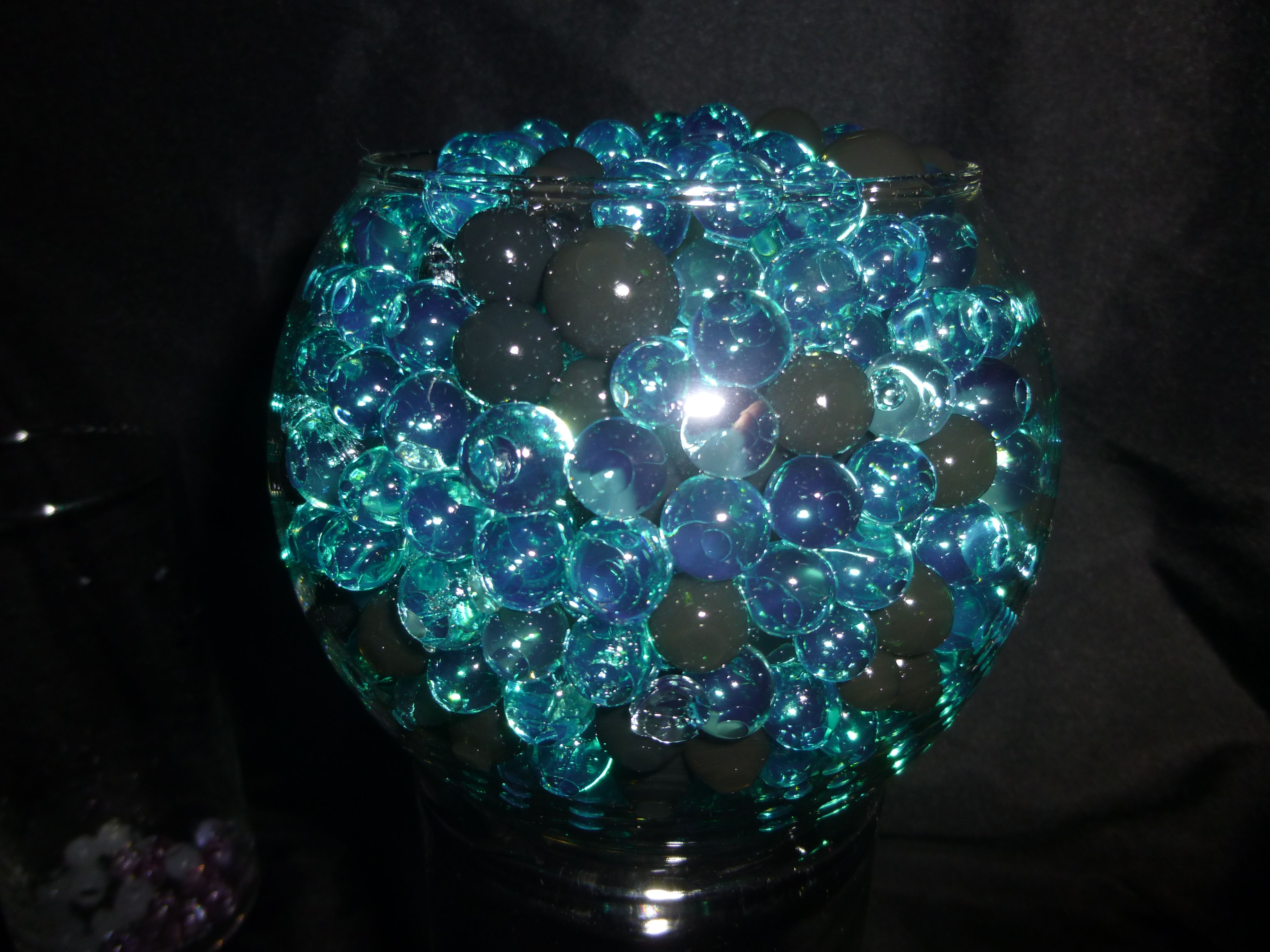 Black Amp Teal Water Beads Hydrated Absorbing Gel Magic