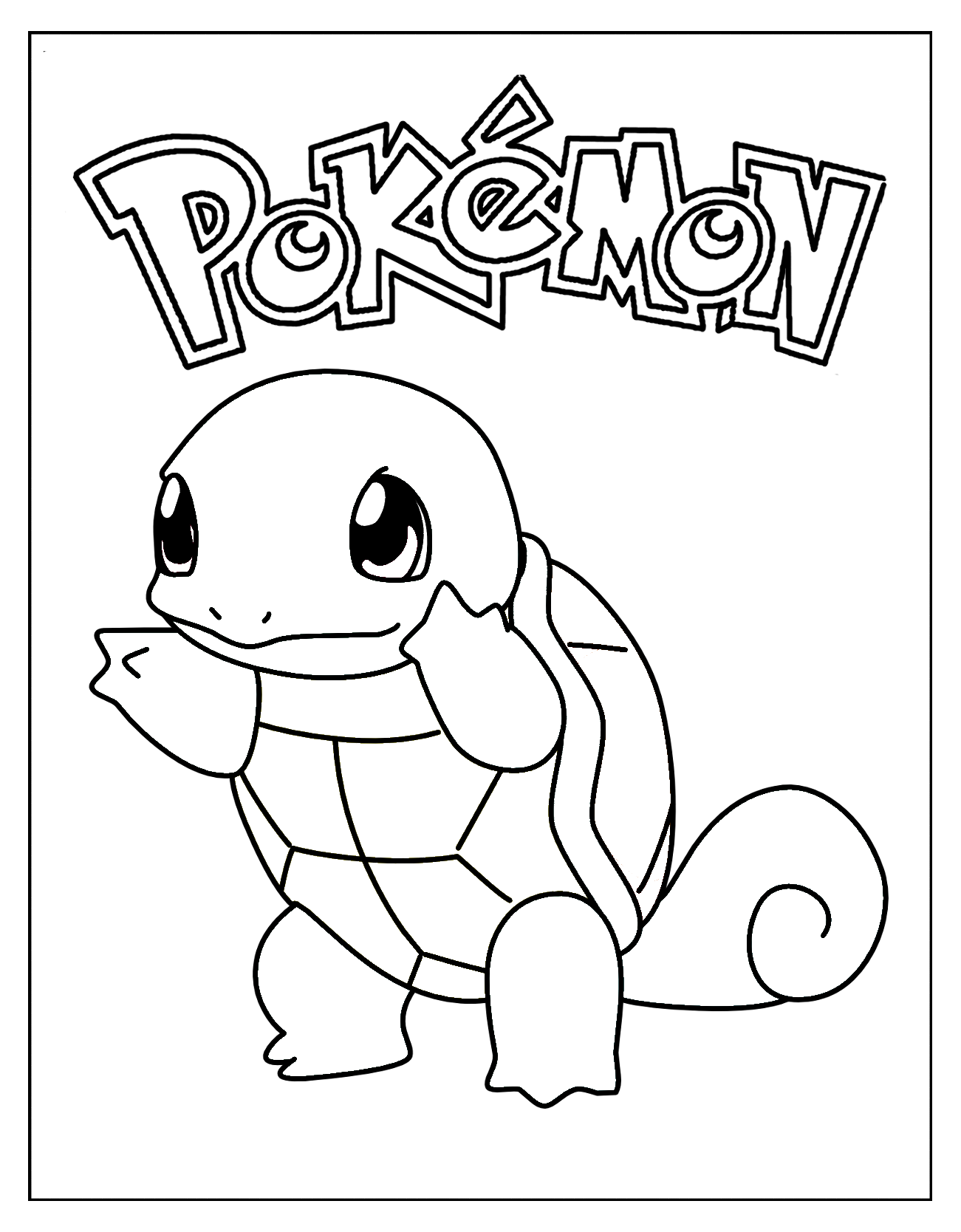 squirtle Pokemon coloring pages, Pokemon coloring sheets