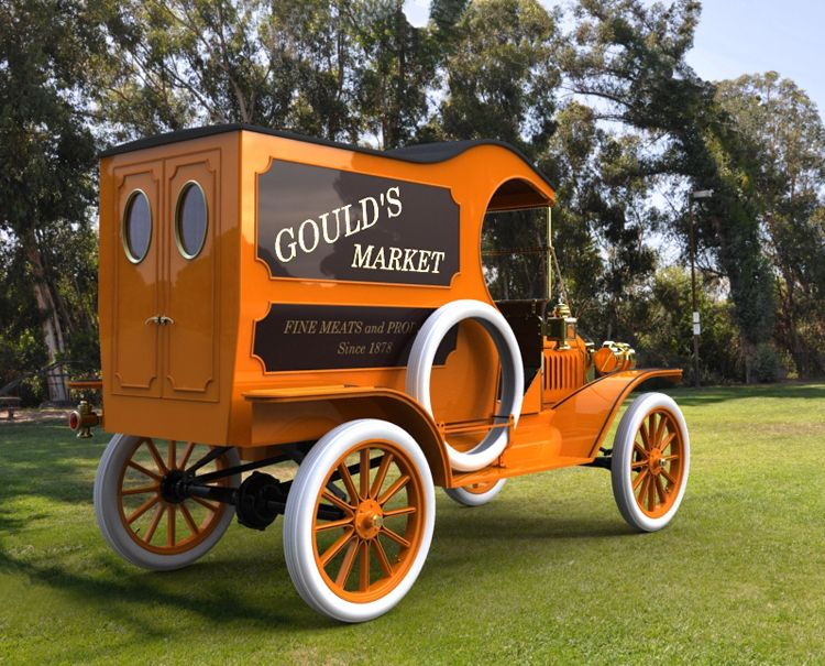 Ford Model T Delivery Van My Great Grandpa Was Killed Doing Deliveries For His Bakery In One It Stalled Cross Classic Cars Trucks Vintage Trucks Classic Cars