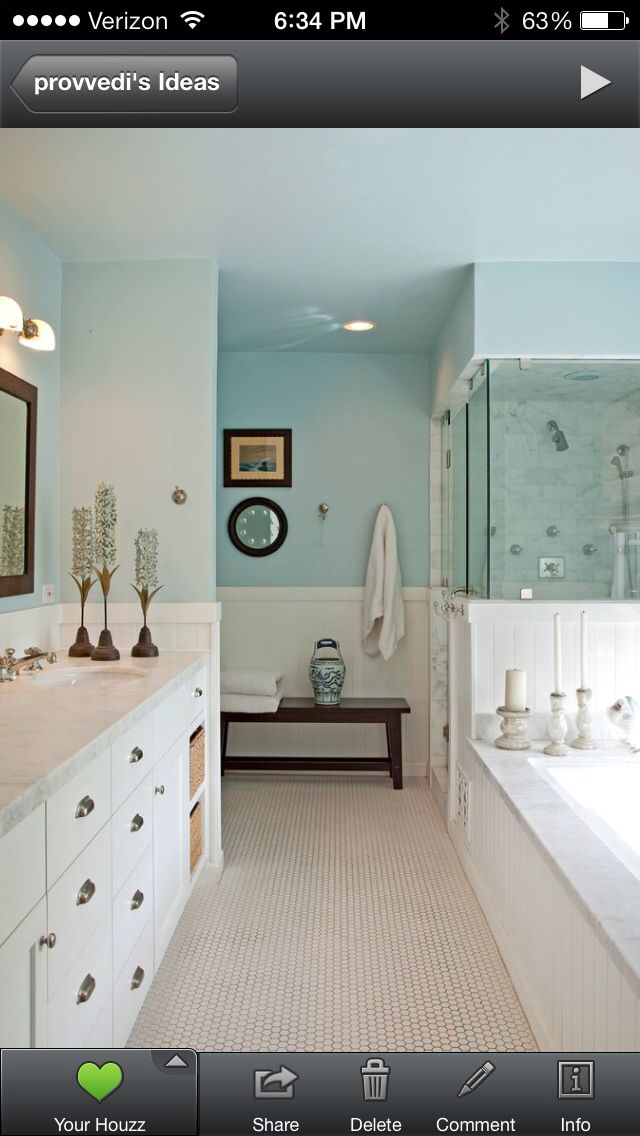 Half wall shower Master bath | Baths | Pinterest | Half walls, Bath ...