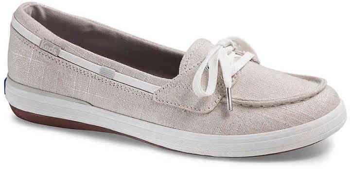 1ec864d9ca0 Keds Women s Glimmer Linen Slip-On Sneaker - Women s s -Silver Metallic