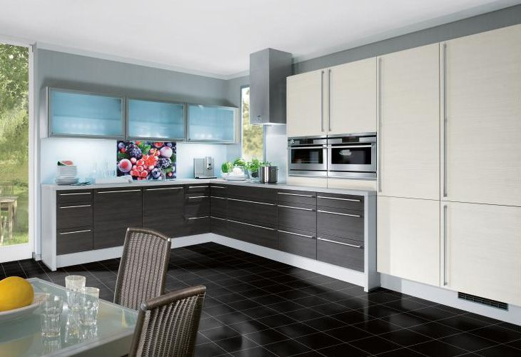 Küche in dunklem Holz #Holzküche #Eckküche wwwdyk360-kuechende - küche holz modern