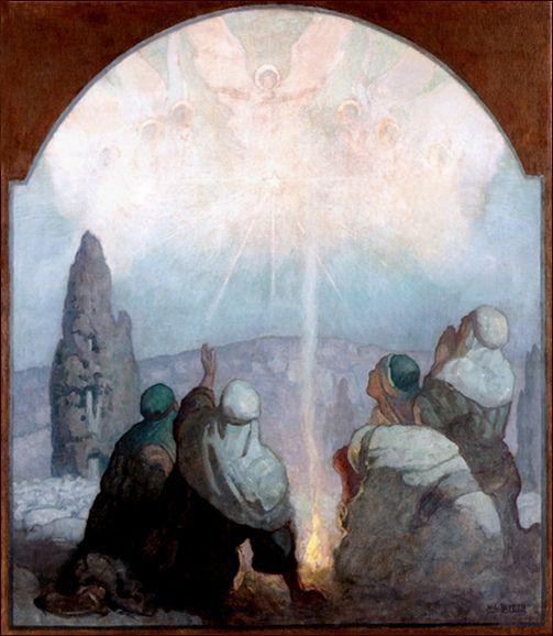On Christmas Night by Bethlehem Town' (ca. 1924) by N.C. Wyeth