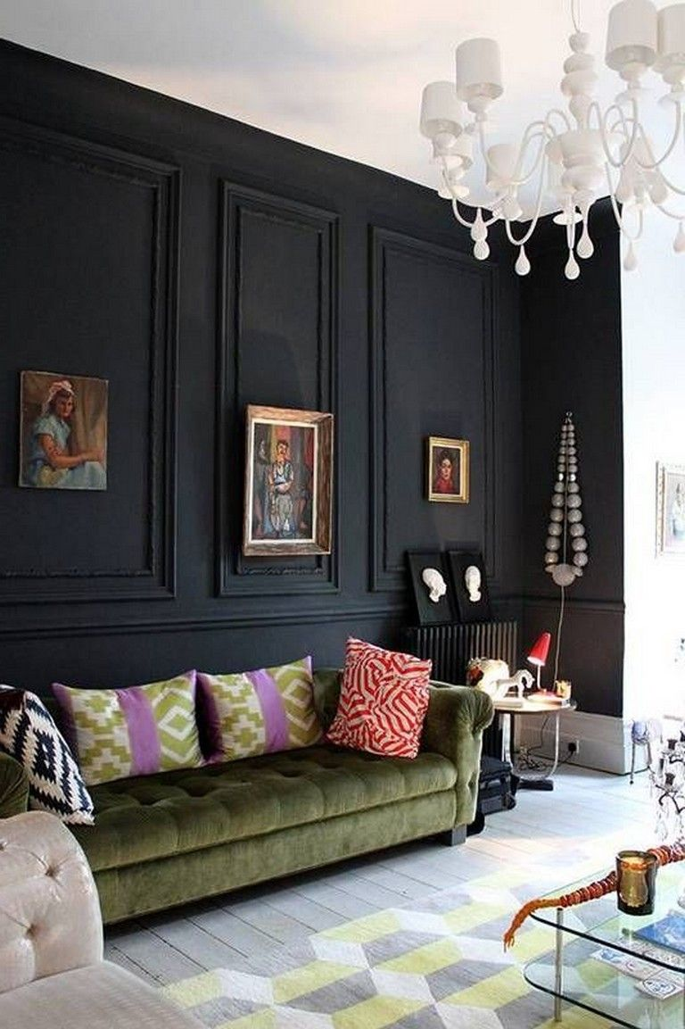 25 lovely living room decor ideas with black walls on beautiful modern black white living room inspired id=55732