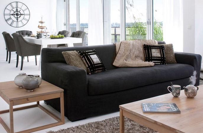 deco salon moderne noir et blanc Deco Maison Moderne | deco chambre ...