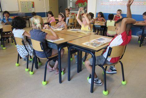 Tennisballen zorgen voor rust in de klas klasinrichting for Meubilair basisschool