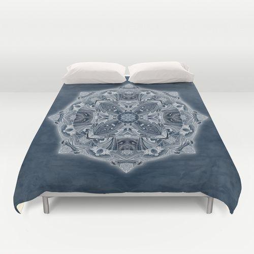 Natural Blueprint Duvet Cover