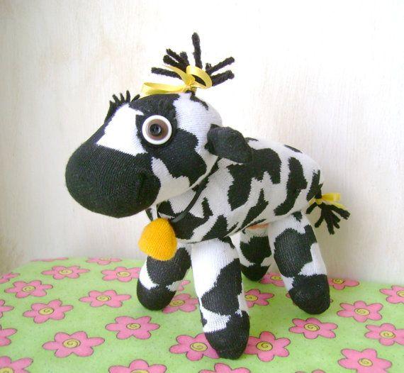 Bessie the Sock Cow by DeedleDeeCreations on Etsy, $20.00