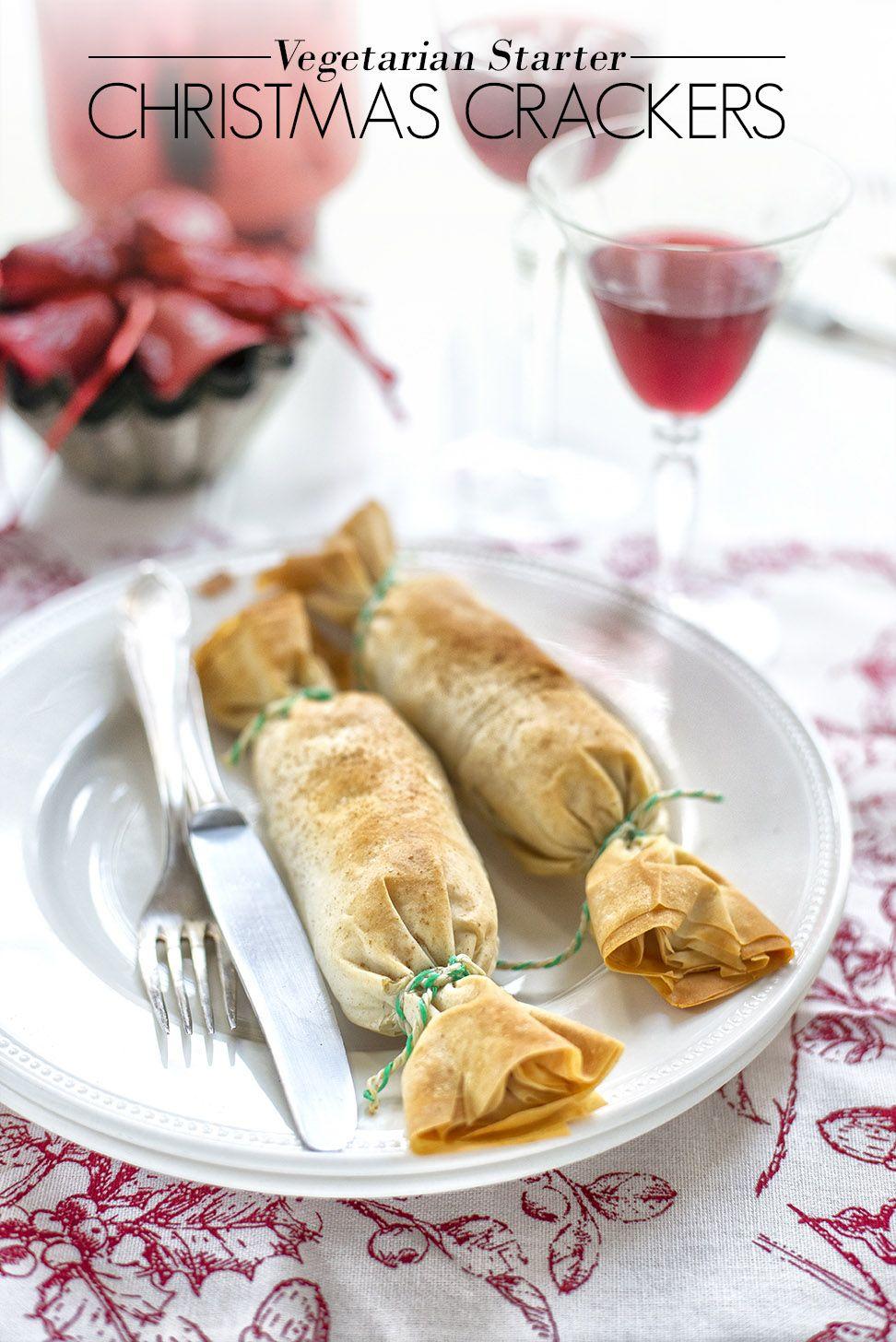 Vegetarian Christmas Cracker Starters Vegan christmas