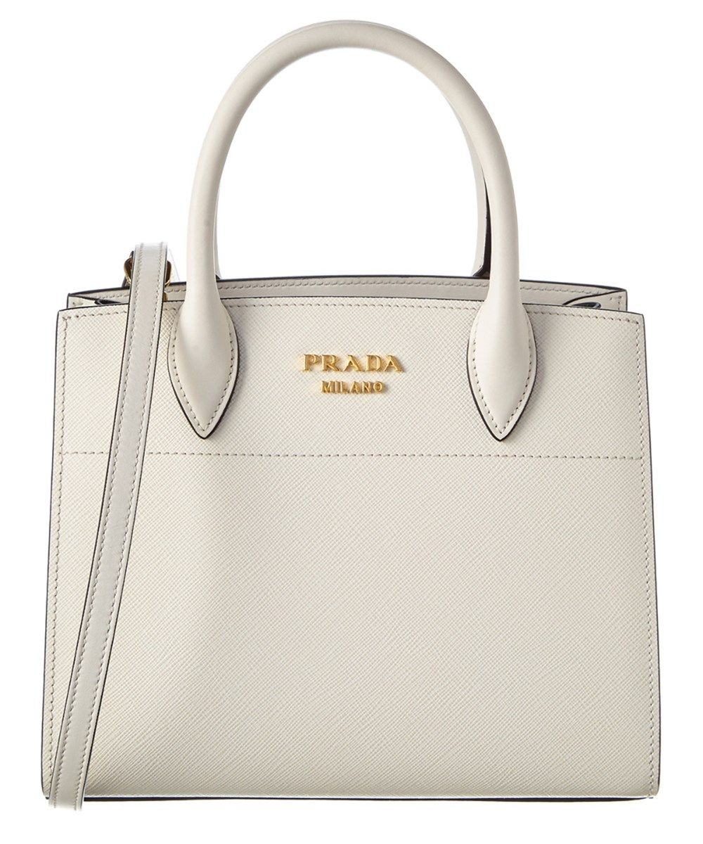 bf3505977db9 PRADA Prada Bibliotheque Small Saffiano &Amp; Calf Leather Tote'. #prada # bags #shoulder bags #hand bags #leather #tote #lining #