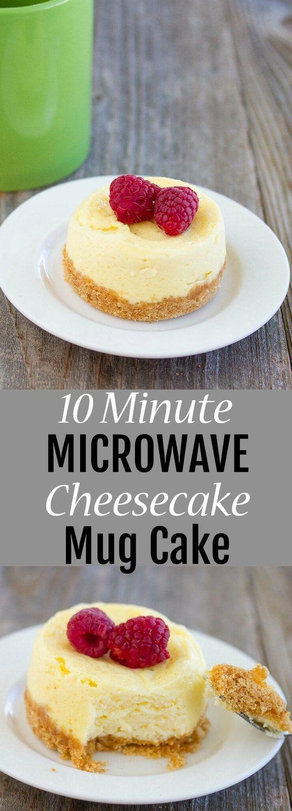 Microwave Cheesecake Mug Cake | Recipe | Microwave dessert ...