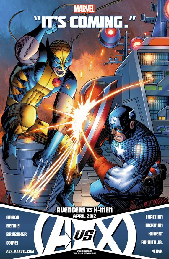 Wolverine Vs Captain America Hawkeye Vs Cyclops No More Please Please Please Wolverine Vs Captain America Romita John Romita Jr
