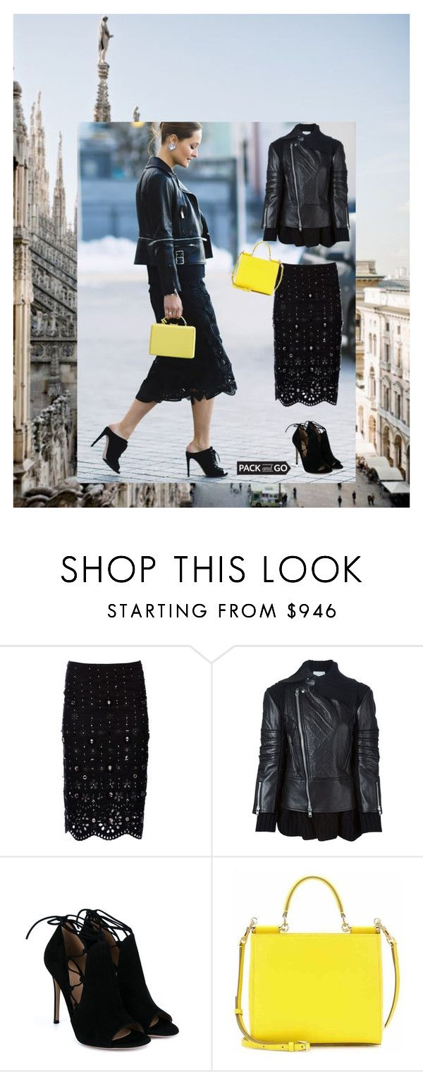 """""""Milan"""" by alenaglush ❤ liked on Polyvore featuring Mercedes-Benz, Marc Jacobs, Sacai Luck, Gianvito Rossi, Dolce&Gabbana, women's clothing, women, female, woman and misses"""