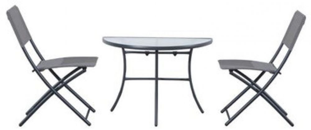 Out Sunny 3 Piece Dining Set Outdoor Patio Furniture Decor Conservatory Summer