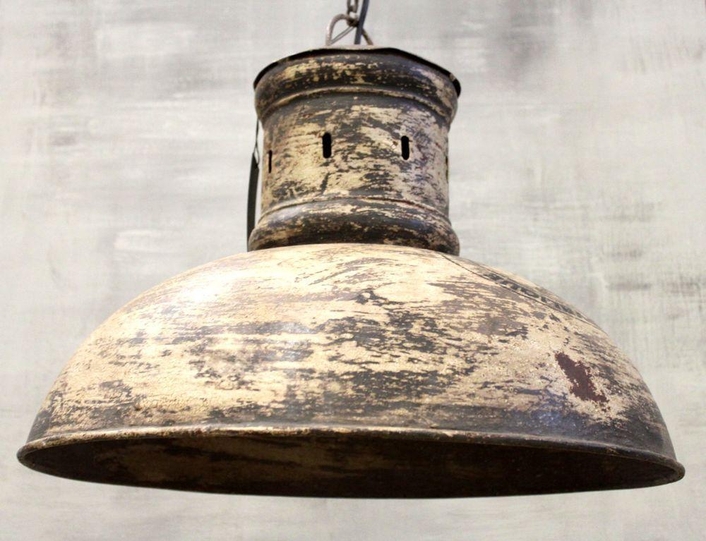 Xxl Hange Lampe O52 Cm Alte Industrielampe Emaille Loftlampe