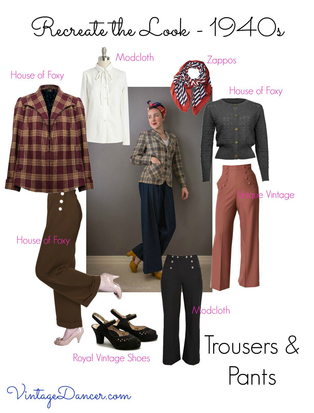 The Real And The Inspired By 1940s Fashion: 1940s Outfit Ideas: Recreate The 40s Look