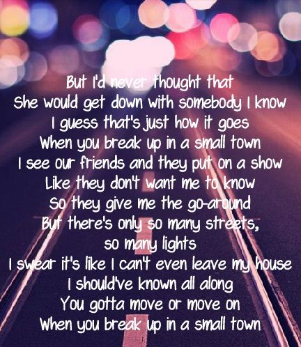 Awesome break up songs