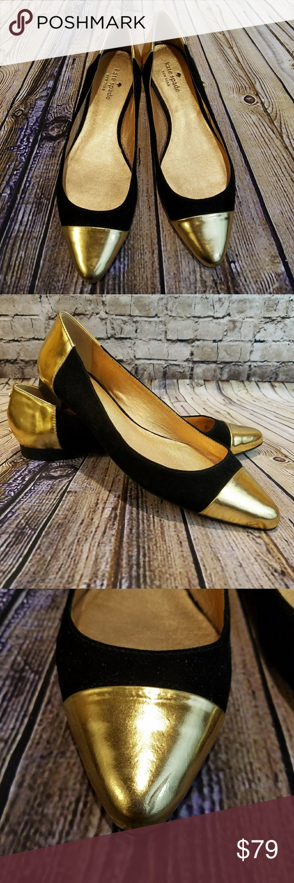 Kate Spade New York Elina Flat Worn Once!! In Excellent