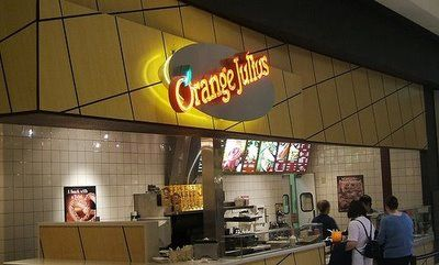 Orange Julius. Orange Julius. I remember the day it closed down at the mall, and they left the big mosaic orange on the floor. *sniff*