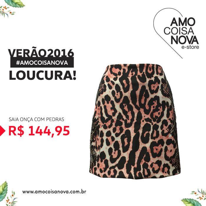 Essa linda saia com um super preço! Acesse www.amocoisanova.com.br e aproveite! #verão2016 #saia #modafeminina #colecao2016